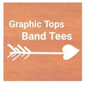 Graphic Band Tees, Tanks, Long Sleeve Tops